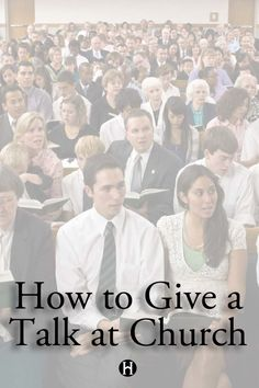 How to Give a Talk at Church-- this is quite excellent stuff, great reminders