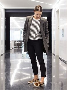 How to Wear Sneakers to Work - Sophia Panych | allure.com