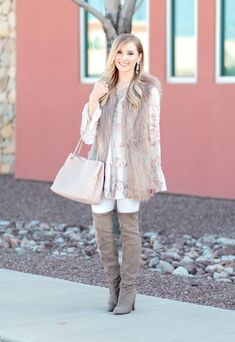 44087a43e47d0c Glamour-Zine Boho Chic Style with brown faux fur vest