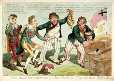 The Dons Outwitted or John Bull in Time for Once (caricature) - National Maritime Museum