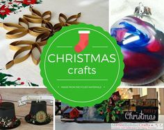 23 Christmas Crafts Made from Recycled Materials   AllFreeHolidayCrafts.com