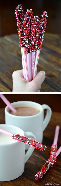 Hot Chocolate Stir Sticks #recipe on justataste.com