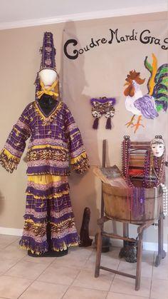 b9ffcc1368b75 Items similar to Traditional Mardi Gras Costume LSU on Etsy