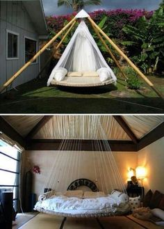 Trampoline bed