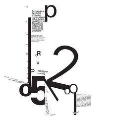 Typography Is by ~rizn This composition is a study on fonts, their characters and how they interact with each other in a given space. The object of the peice was to create a visual gestalt using the font face Univers
