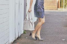 Michelle's Style File | Melbourne fashion blog | Boys style blog: Louenhide - Wendy Bag in Mushroom $99.95 @ www.louenhide.com.au