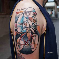 Bike tattoo by Jagoda. #bike #fixie #biker #cyclist #biking #sport #semiabstract
