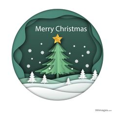 Merry christmas background in paper art style Free Vector Merry Christmas Poster, Merry Christmas Background, Christmas Paper, Christmas Images, Christmas Design, Christmas Crafts, Christmas Jesus, Xmas, Christmas Wishes Messages