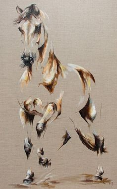 Discover thousands of images about Horse - Oil on canvas Copyright L.PLINGUET www. Horse Drawings, Animal Drawings, Art Drawings, Afrique Art, Horse Artwork, Illusion Art, Arte Pop, Equine Art, Animal Paintings