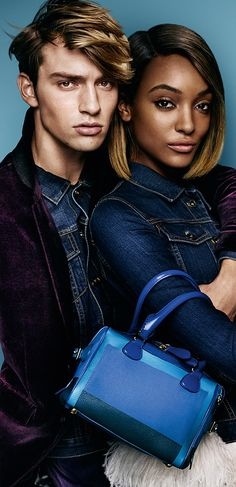 Jourdan Dunn and George Le Page star in the Burberry Spring/Summer 2015 campaign wearing new season Prorsum