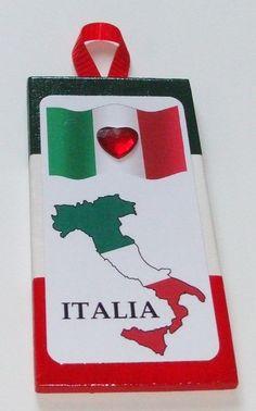 Italian sign flag of Italy Italian colors by mareestreasures