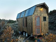 This 198-square-foot baby cabin on wheels in Colorado. | 10 Tiny Homes You Can Actually Buy / The Green Life <3