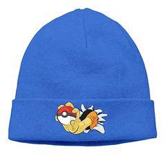0797483d4b5 Winter The Pokemon Go RoyalBlue Unisex Warm Toboggan Hat For Lady Pokemon  Bikini