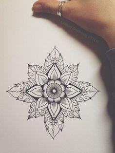 Tribal flower idea for my next tattoo