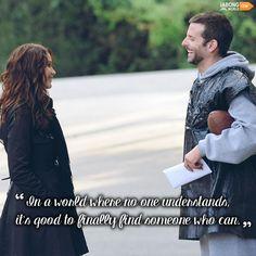 """When I'm talking to you, I think I can go on forever!!"" #JWQuotes #HollywoodQuotes #BradleyCooper #JenniferLawrence #SilverLiningsPlaybook"