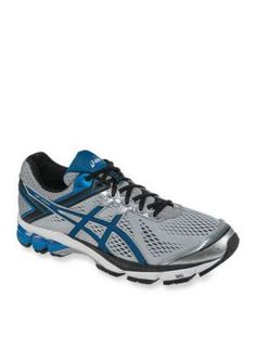 ASICS SilverElectric BlueBlack Mens GT-1000 Running Shoe