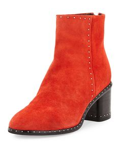 S1ABH Rag & Bone Willow Studded Leather Ankle Boot