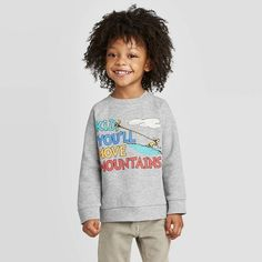 Toddler Boys' Dr. Seuss Kid You'll Move Mountains Pullover Sweatshirt - Light Gray 18M : Target Move Mountains, Sherpa Lined, Double Knitting, Toddler Boys, Heather Grey, Zip Ups, Pullover, Sweatshirts, Long Sleeve