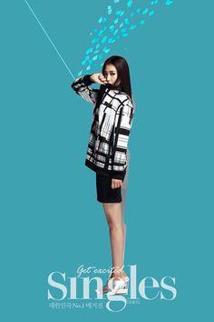 Park Shin Hye ☆ #Kdrama // Singles' February 2014 Issue