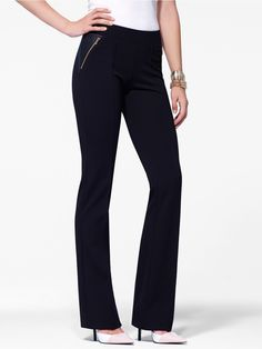 PONTE PULL ON TROUSER WITH FOILED P     #FOILED, #Ponte, #PULL, #TROUSER