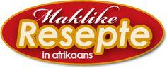 maklike-resepte-in-afrikaans Afrikaans, Burger King Logo, Clever, Drink, Kitchen, Food, Recipes, Beverage, Cooking