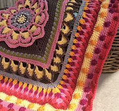 Mandala Blanket Part 5 now available for free download on Ravelry