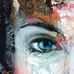 One mysterious eye Powerful Women, Urban Art, Mixed Media Art, Mysterious, Mystery, Eye, Portrait, Gallery, Nature
