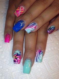 Mixed Up by AlysNails - Nail Art Gallery nailartgallery.nailsmag.com by Nails Magazine www.nailsmag.com #nailart