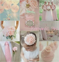 romantic pink wedding color