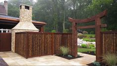 Decorative Garden Fencing Will Make Your Garden Stand Out Japanese Fence, Japanese Garden Design, Flower Garden Design, Modern Garden Design, Japanese Gardens, Bamboo Garden Fences, Decorative Garden Fencing, Garden Gates, Garden Doors