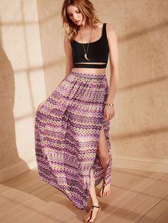 e437547f102 Maxi Skirt - Victoria s Secret Maxi Skirt Crop Top