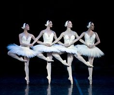 Four Little Swans, from Swan Lake. I did this one with my friends last month during a mini performance in tights, leotards, and at the dance studio. It was a lot of fun!