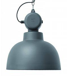 HK-living Hanglamp MAT grijs Factory metaal Ø40x45cm medium - wonenmetlef.nl