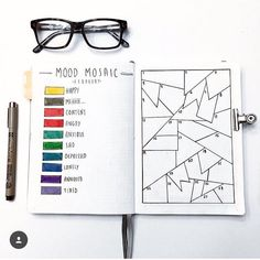 bullet journal mood tracker | mosaic