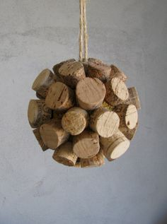 Wine Cork Ball Ornament - Made to Order. $15.00, via Etsy.