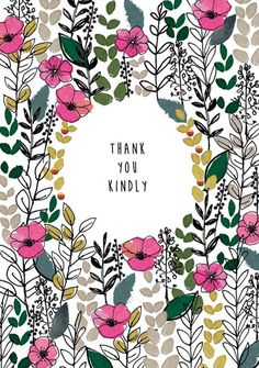 I love the ink work and muted colors with bright pink surrounding these sweet words