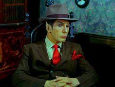 "Star Trek Spock. Waiting for Kirk to ""Get ah peece of da action"""