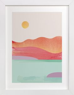 """""""Looking Far West"""" - Limited Edition Art Print by sue prue in beautiful frame options and a variety of sizes."""