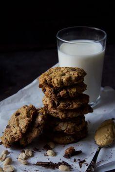 ciastka masło orzechowe cookies peanut butter czekolada chocolate oat płatki owsiane