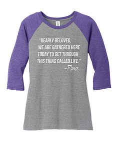 Look at this TKO tees Purple & Gray Frost Prince Raglan Tee on #zulily today!