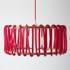 Macaron Oak Lamp, Red - 45cm - Lights - EMKO - Space & Shape - 5