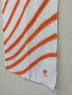"sha ... regimental  c/# orange   tenugui ""cu3"""