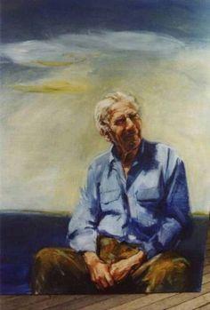 """Ann Cape - """"Vincent Serventy"""" Australian Artists, Cape, Portrait, Painting, Mantle, Cabo, Men Portrait, Painting Art, Portrait Illustration"""