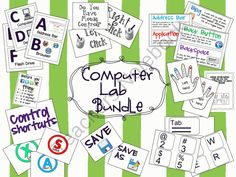 Computer Lab Bundle Pack from Elementary Techie Teacher on TeachersNotebook.com (83 pages)  - Computer lab resources and decorations