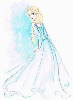 Elsa Frozen Disney Sketches | Fan arts] La Reine des Neiges