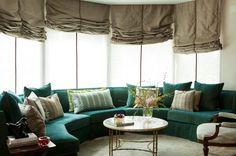 I love a curved sofa
