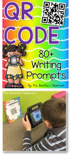 Struggling to engage your students in writing? These 80+ rich, creative QR code writing prompts are a fun way to use technology to get your students interested in writing. All you need is one device with a QR code reader! #qrcode #writing #writingprompts #ela