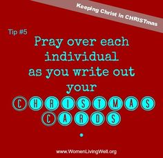 Keeping Christ in CHRISTmas - Tip#5