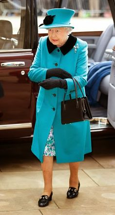 Queen Elizabeth II attends the traditional Royal Maundy Service at Sheffield Cathedral on 02.04.2015 in Sheffield, England.