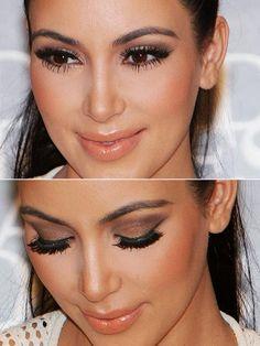 Kim Kadarshian Make up
